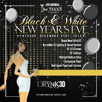 Black and White New Years Eve