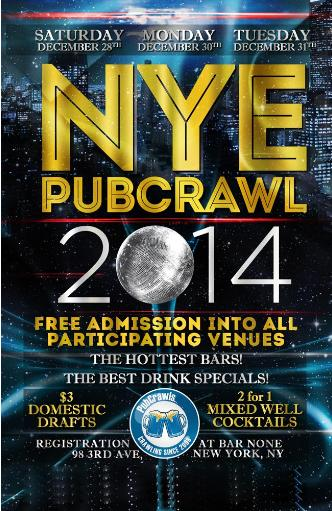 Dec 30 NYC PubCrawl NYE