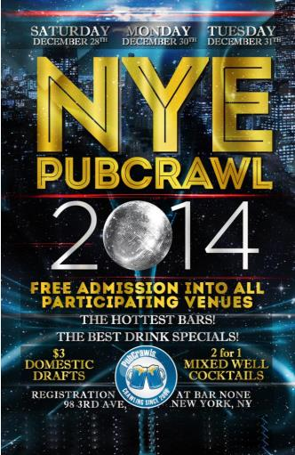 Dec 31 Official NYC PubCrawl