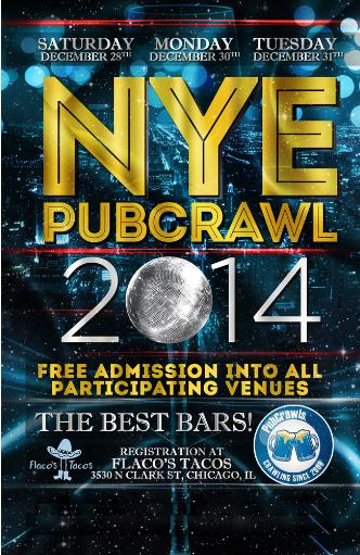 Dec 30 Chicago PubCrawl NYE