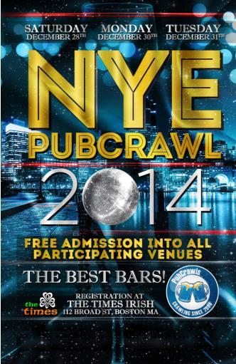 Dec 30 Boston PubCrawl NYE