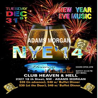 NYE 2014 @ Club Heaven & Hell