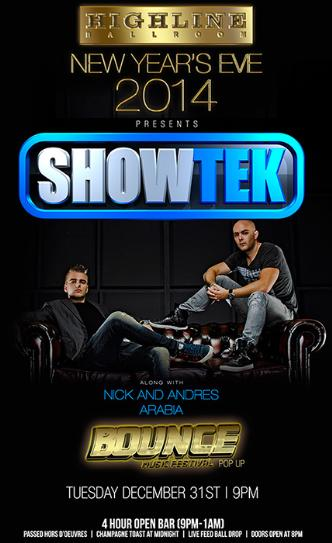 Showtek New Years Eve 2014