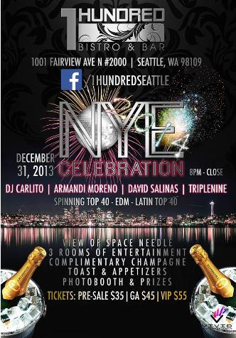 NYE 2014 @ 1 Hundred Bistro