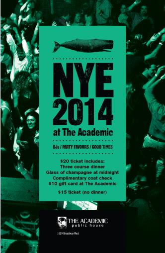 NYE at The Academic