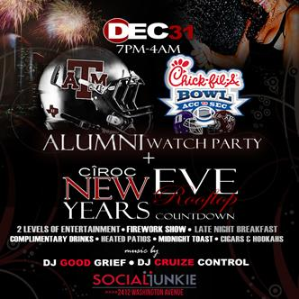 TEXAS A&M BOWL WATCH+NYE PARTY