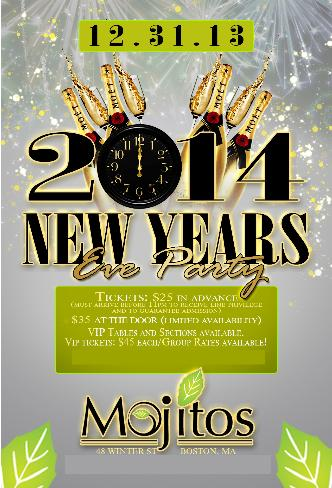 Mojitos New Years Eve 2014