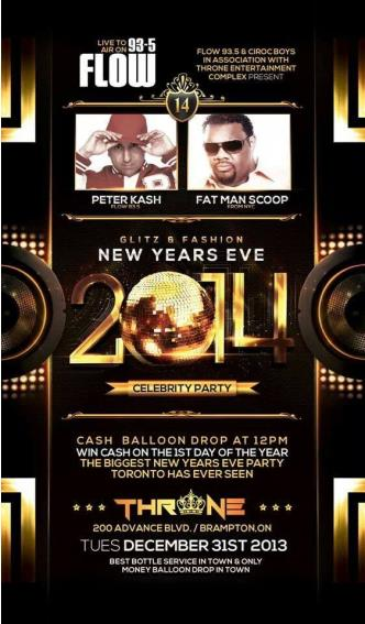 FLOW 93.5 CELEBRITY NYE PARTY