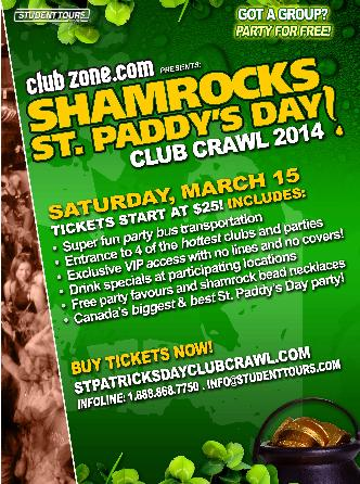 Kelowna St Paddy's Club Crawl