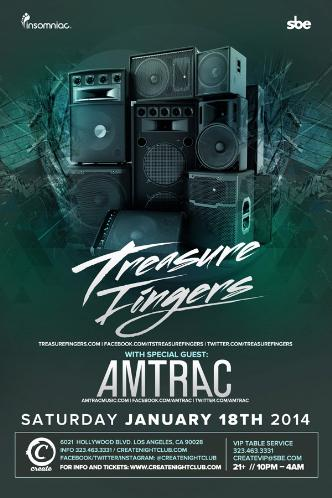 TREASURE FINGERS + AMTRAC: Main Image