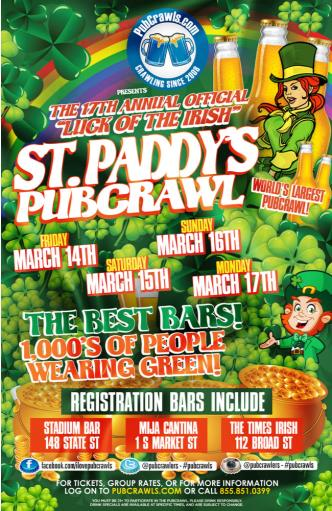Boston Saint Paddy's Pub Crawl