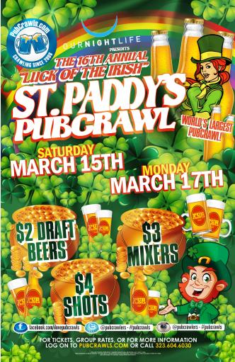 Hollywood StPatty PubCrawl-Mon