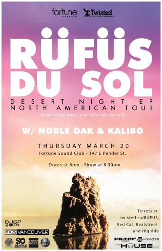 RUFUS DU SOL @ Fortune Sound Club