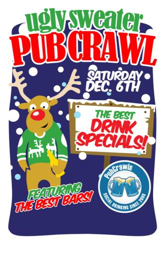 Ugly Sweater Pub Crawl NYC