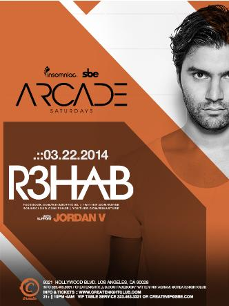 ARCADE SATURDAY - R3HAB: Main Image