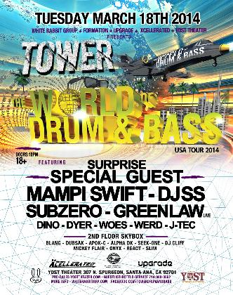 Tower ft. World of Drum N Bass: Main Image