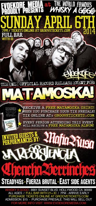 MATAMOSKA ! CD Album Release!!: Main Image