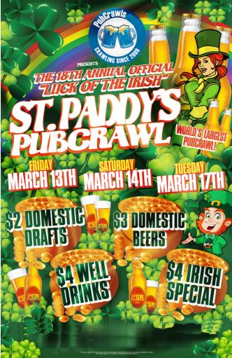 Pre-St Paddys Pubcrawl -Philly