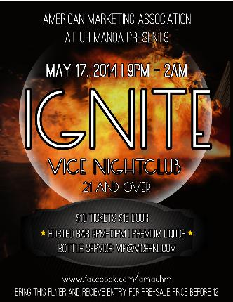 "AMA UHM PRESENTS ""IGNITE"": Main Image"
