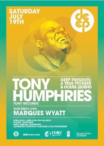 DEEP pres TONY HUMPHRIES: Main Image