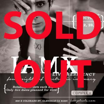 IAMX live residency 1 SOLD OUT: Main Image
