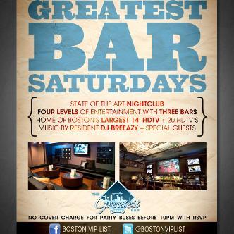 Saturday @ Greatest Bar-img