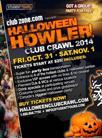 Montreal Halloween Club Crawl