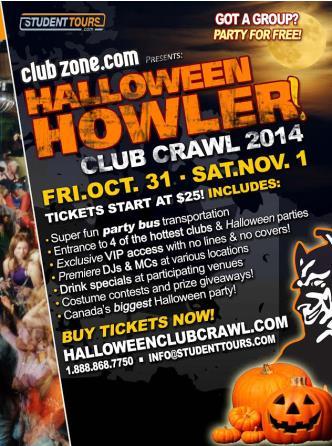 Saskatoon Halloween Club Crawl