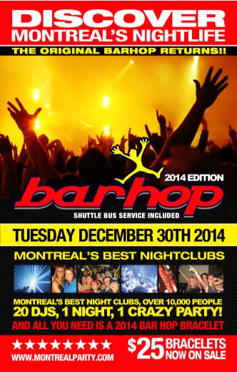 MONTREAL CITY WIDE BARHOP'14