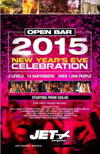 JET NIGHT CLUB - OPEN BAR NYE!