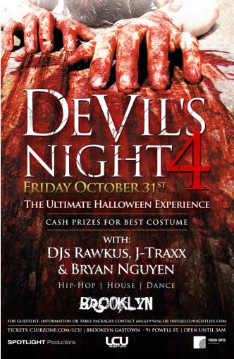 DEVILS NIGHT 4 - LAST 100 tixs