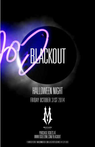 BLACKOUT | Maison Mercer