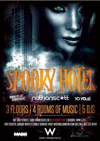 Spooky Hotel 2014 at W SF