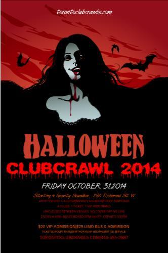 Halloween Club Pub Crawl 2014