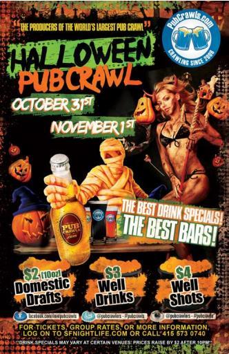 SF Day of the Dead Pub Crawl