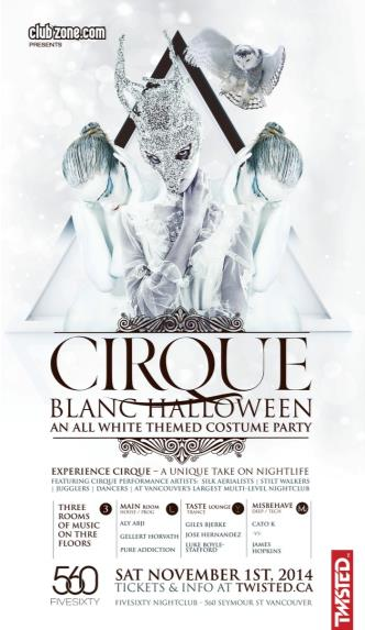 CIRQUE BLANC HALLOWEEN