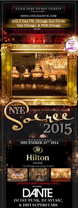 NYE 2015 w/ YELP and KISS FM