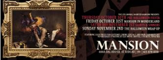 Halloween WEEKEND (THURS-SUN)
