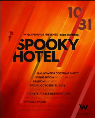 Spooky Hotel @ W Hollywood