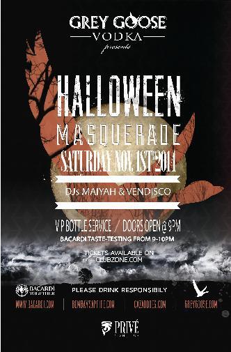 Halloween Masquerade - NOV 1st