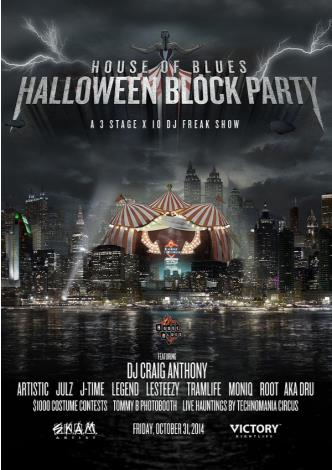 HOB Halloween Block Party 2014