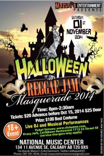 Halloween Reggae Jam Masquerad  sc 1 st  Best Halloween Parties of 2017 & Best Halloween Parties in Calgary