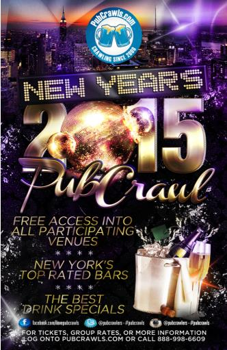 NYC New Year's Eve Pub Crawl