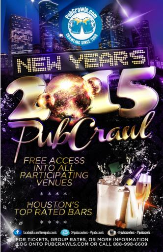 Houston New Year's Pub Crawl