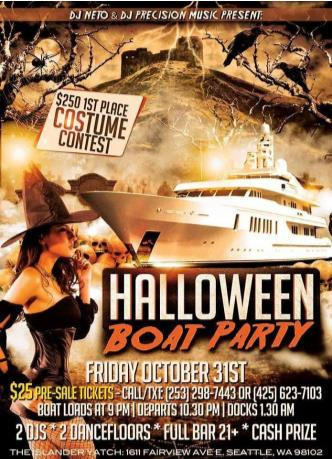 Halloween Boat Party 2014