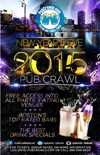 Boston New Years Eve Pub Crawl
