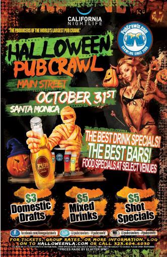 SantaMonica Halloween PubCrawl