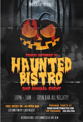 2nd Annual HAUNTED BISTRO