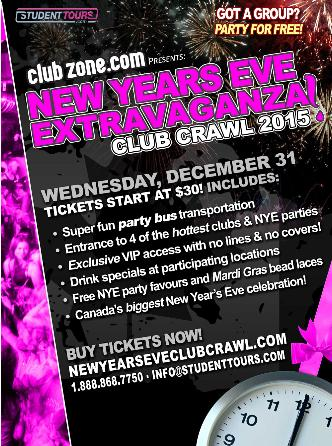 Toronto NYE Club Crawl 2015