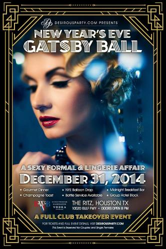 NYE Houston Gatsby Ball- Full Club Takeover